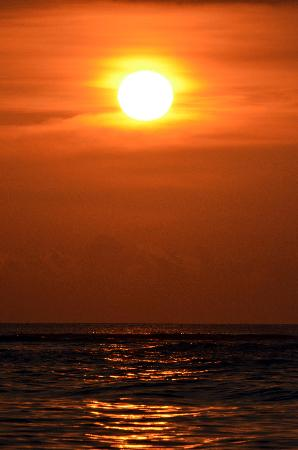 Sunset at senggigi beach