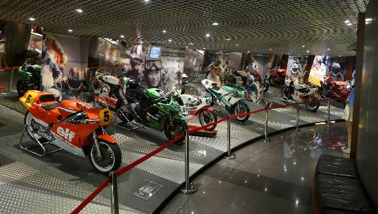 Great displays at the Grand Prix Museum - bikes
