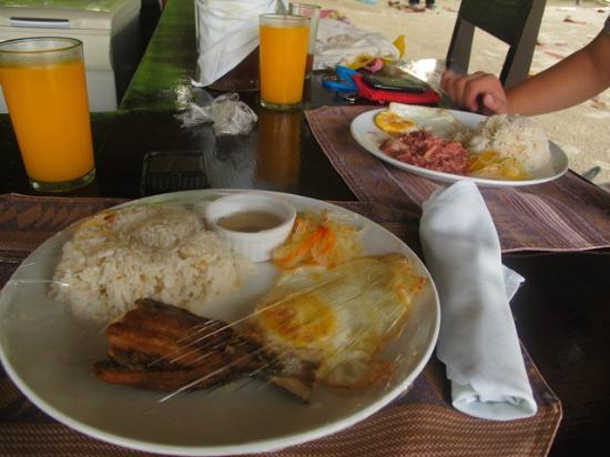 Precious Garden Samal: Breakfast Bangsilog and Cornsilog
