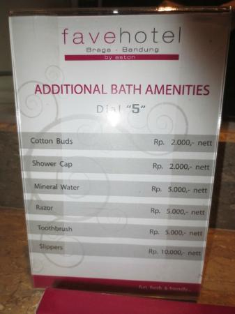 favehotel Braga: Price List