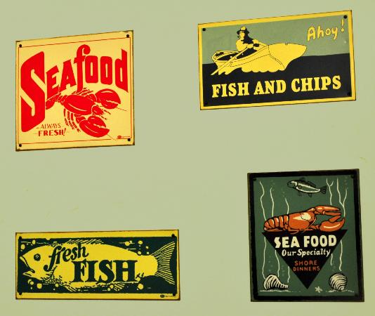 The Seafood Cafe: Vintage signs