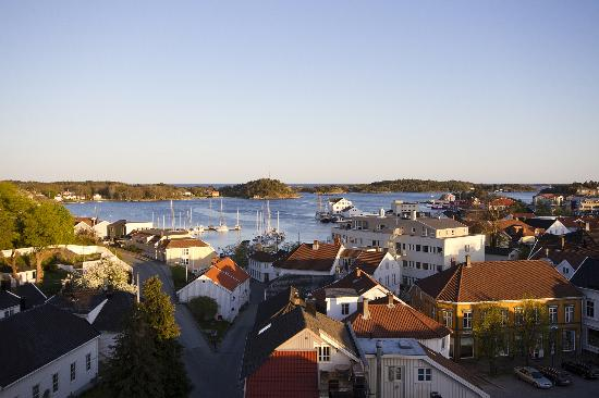 Scandic Grimstad: Beautiful view from the roof top terrace
