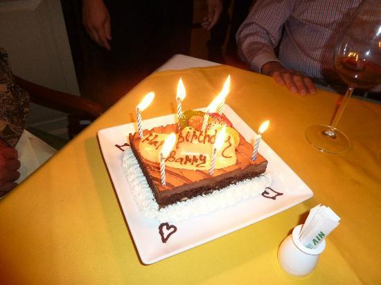 Mata Hari Surprise Birthday Cake