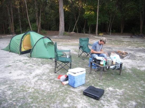 Ferns Hideaway Resort: camping at ferns