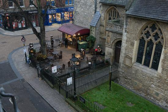 Jesus College, Oxford University: View from bedroom (staircase XIX room 5) - Ship Street