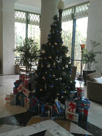 Dalat Edensee Resort & Spa: Christmas Trees in the Lobby