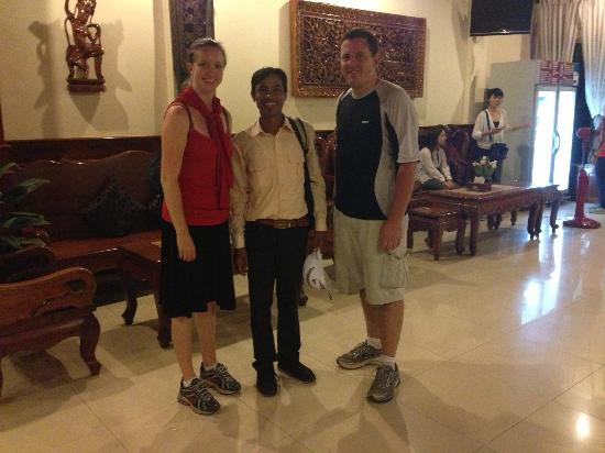 Angkor Holidays Tour: Us with Mr. Puy Lekh