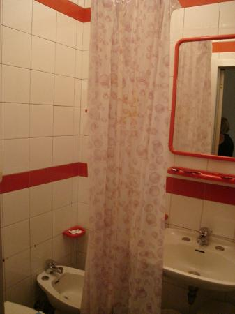 Hotel Niagara Rimini : very small bathroom