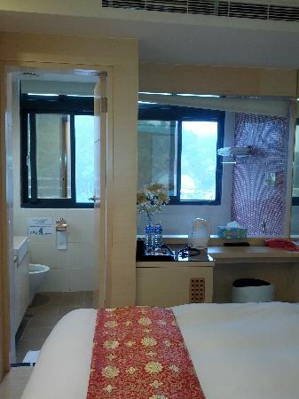 Tan Hui Hotel B: Bad vom Zimmer ausgesehen