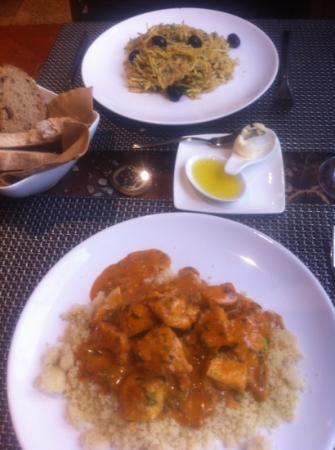 GSpot Gastronomia: pavo con cous cous y bacalao a bras