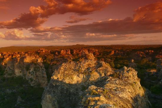 Parque Nacional de Sete Cidades: Vista de sete Cidades no por do sol