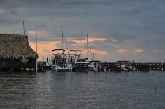 Ramon's Village Resort: sunset over Ramon's pier