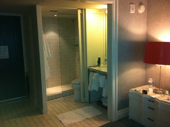 "W Atlanta - Buckhead: ""Bathroom"" in the corner of the room."