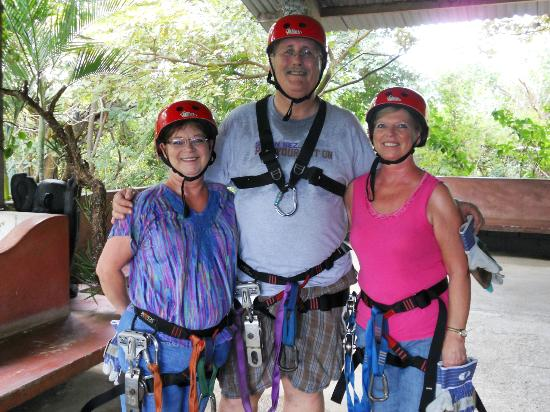 The Congo Trail Canopy Tour: Sara, Gordon, Marsha