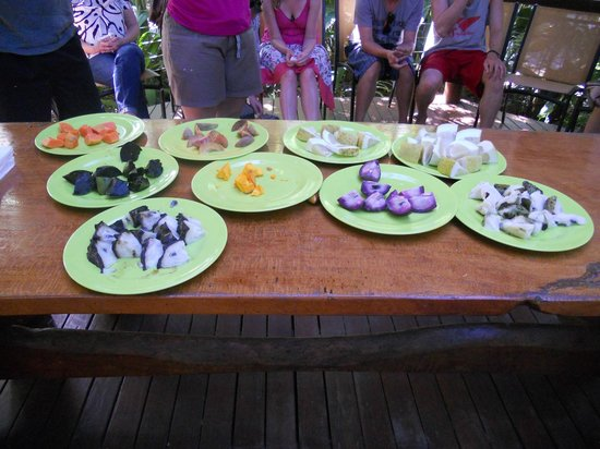 Cape Trib Exotic Fruit Farm:                                     All the exotic fruits chopped up - dig in!