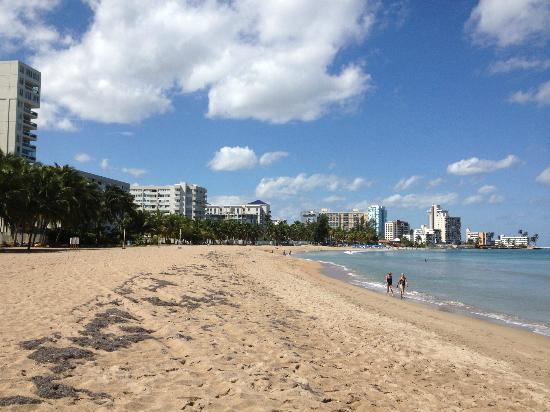 Courtyard Isla Verde Beach Resort: View of beach directly in front of hotel