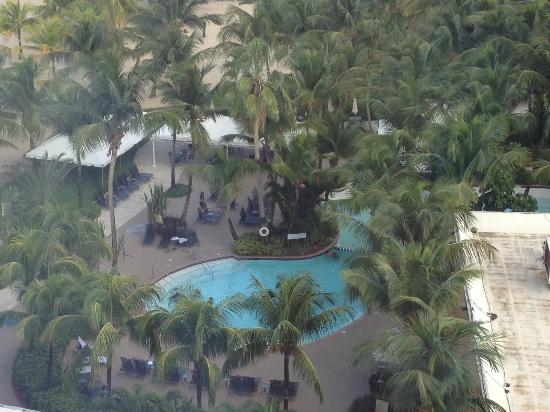 Courtyard Isla Verde Beach Resort: View of pool area from 10th floor