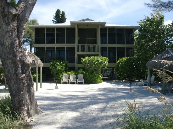 "Jensen's ""On the Gulf"": view of apartment from the beach"