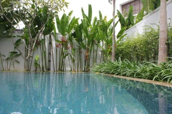 Two Villas Holiday Oriental Style Naiharn Beach: pool & garden
