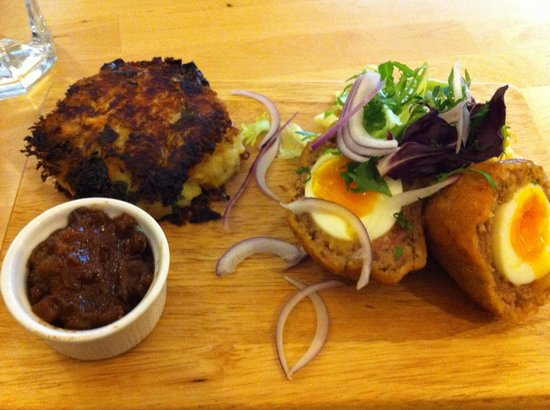 Zest Cafe: Home made scotch egg and best bubble & squeak ever tasted