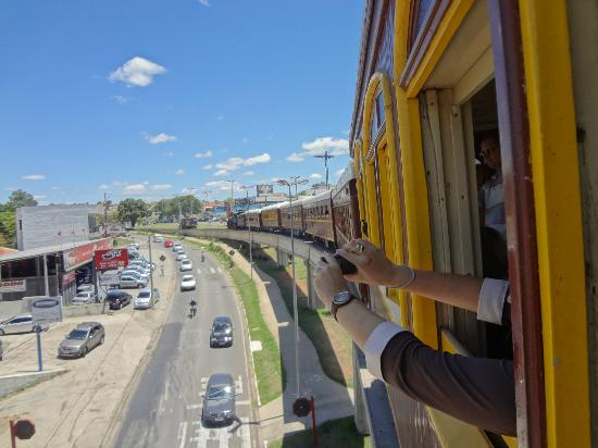 Passeio de Maria Fumaca Campinas - Jaguariuna : Chegando à Jaguariuna