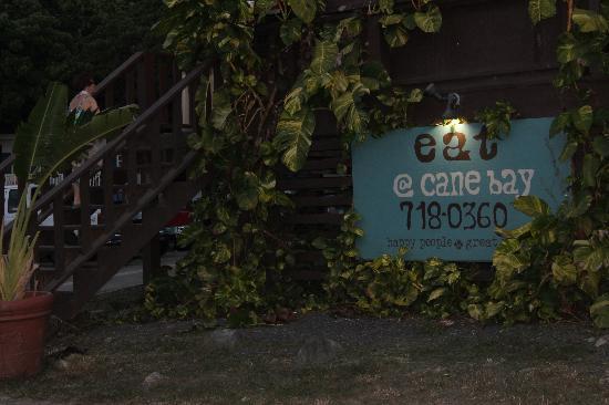 Eat at Cane Bay: sign