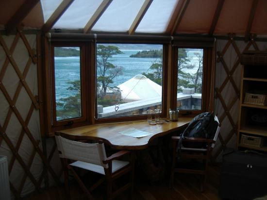 Patagonia Camp: Desk in Yurt