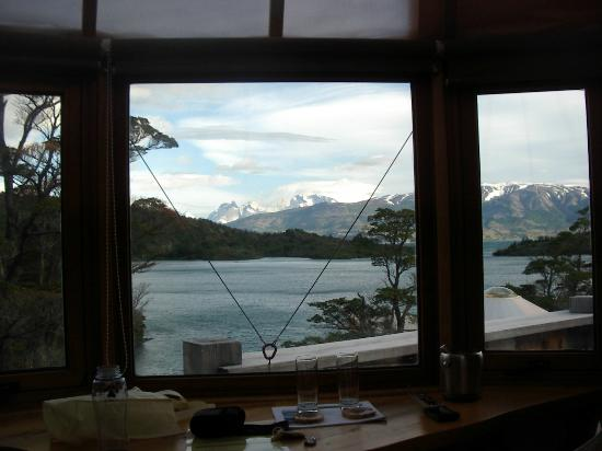 Patagonia Camp: View Out Window of Yurt