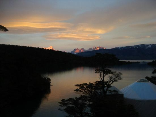 Patagonia Camp: Sunset From Deck of Yurt #10