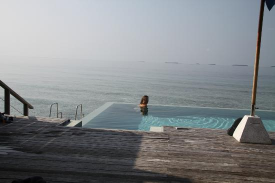 Dusit Thani Maldives: Our Lagoon Villa deck