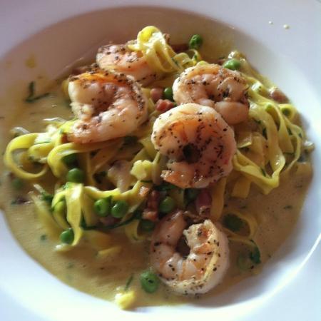 Luca's Mediterranean Cafe: shrimp carbonara