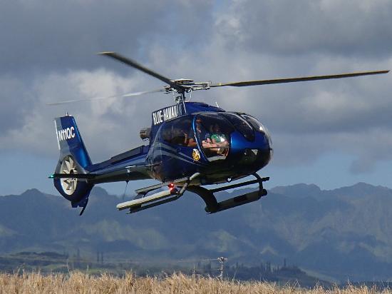 Blue Hawaiian Helicopters - Kauai : Our tour vehicle
