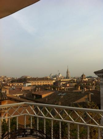 Hotel Raphael: view east from the rooftop terrace