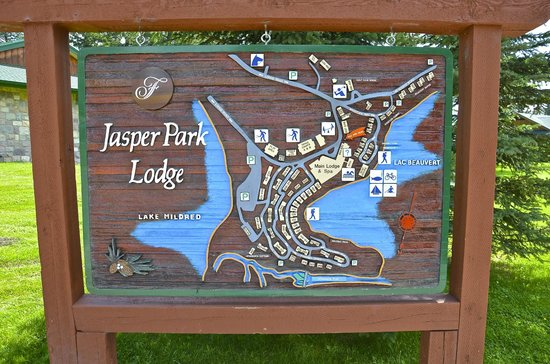 KOA Hinton/Jasper: Jasper Park Lodge Map