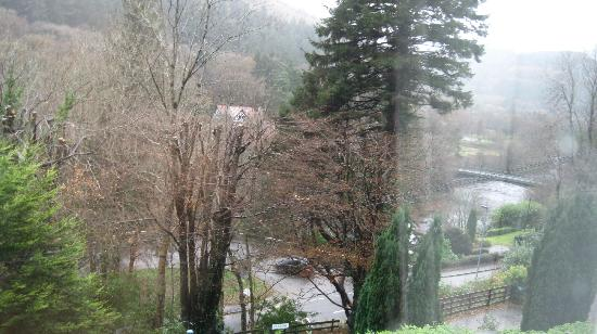 Glyntwrog House: Sight of the River from window