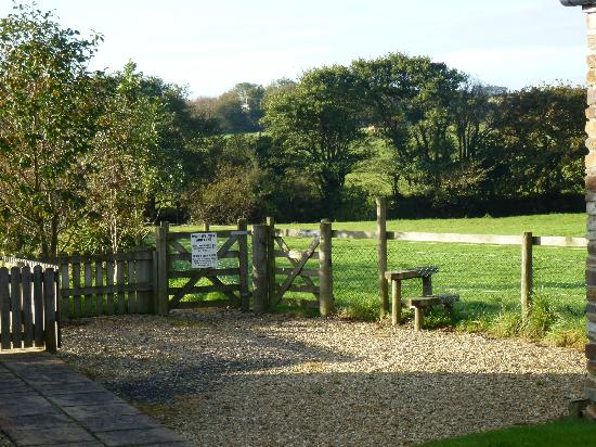 Pollaughan Holiday Cottages: Entrance to the wildlife pond