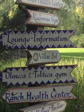 Rancho La Puerta Spa: Directions to the many activities
