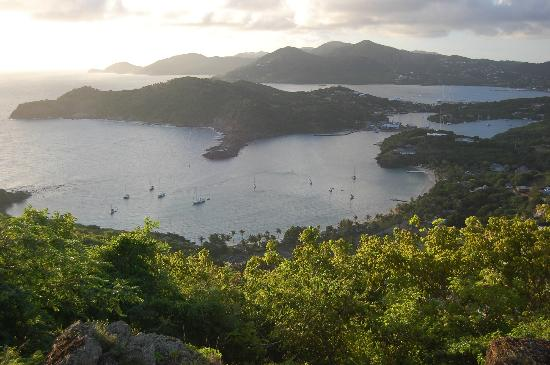 Grand Pineapple Beach Antigua: View of English Harbour from Shirley Heights