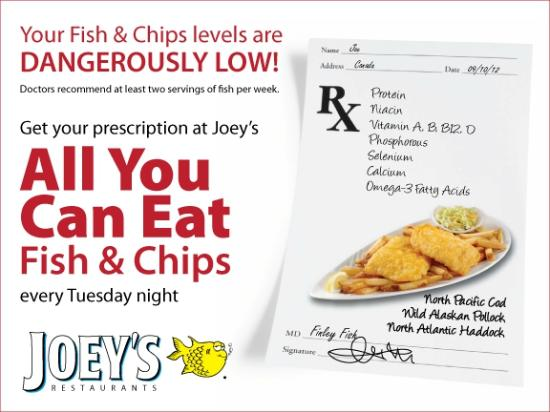 Joey's Seafood Restaurants - Vernon: We've Set a Place for You at Joey's