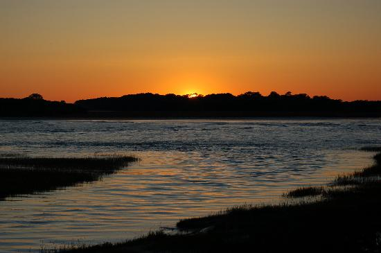 Fripp Island Resort: Sunset by the Cabanna