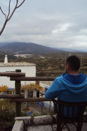Alqueria de Morayma: nuestra terraza y vistas.