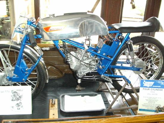 Sammy Miller Motorcycle Museum: A 50cc 4 cylinder racer with a dry clutch, WOW!!