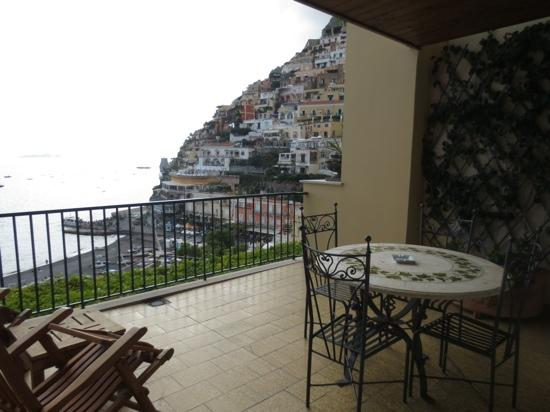 Hotel Buca di Bacco: the terrace of our room