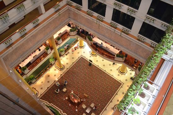 The Emerald Hotel: Groovy atrium