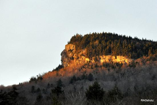 Indian Head Rock Formation at twilight