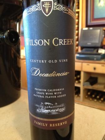 Wilson Creek Winery: デザートワイン これは好みが分かれそう ベタ甘いデザートワイン