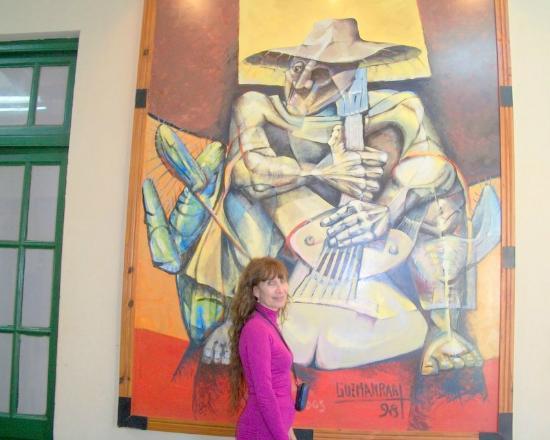 Museo Municipal Rincon de Atacama: l cuadro que mas me gustó del museo de artes.