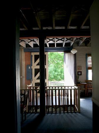 Accommodation in an Historic Warehouse : View out the heritage doors