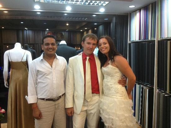 Star's Fashion Cape Panwa: Tony with The Russian Wedding couple