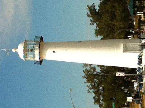 Beau Rivage Resort & Casino Biloxi: Lighthouse behind the beach - you'll see what I mean.